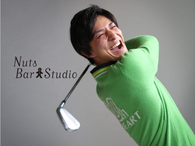 プロゴルファー根本さん。プロフィール用撮影です